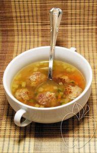 Sopa con albóndigas de castaña (8)