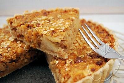 Tarta de manzana, albaricoques y avena (25)