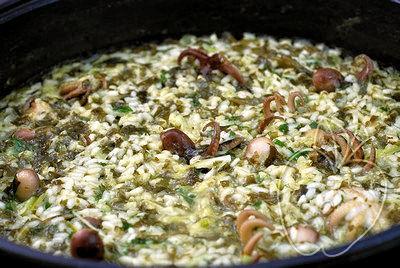 Arroz con pulpitos y alga wakamé (2)