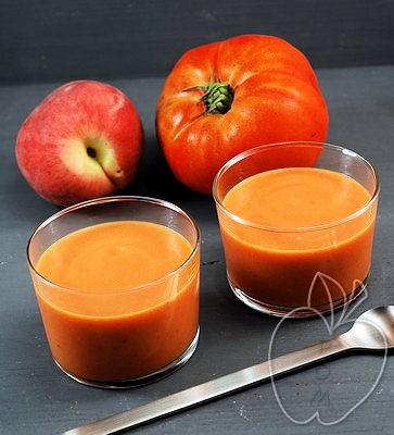 Crema fría de tomate y melocotón (2) - copia