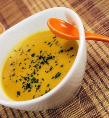Crema de lentejas rojas y leche de coco (4)