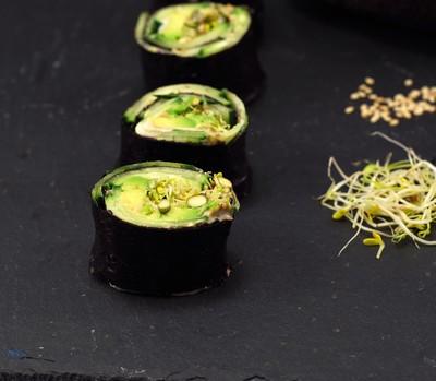Makis vegetales con alga nori (2)