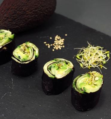 Makis vegetales con alga nori (6)