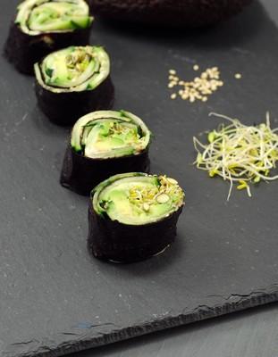 Makis vegetales con alga nori (9)