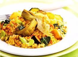 Receta de Paella vegetariana baja en caloras  Recetas de