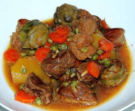 Receta de estofado tradicional de ternera  Recetas de