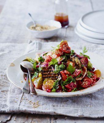 Persian Aubergine and tomato salad