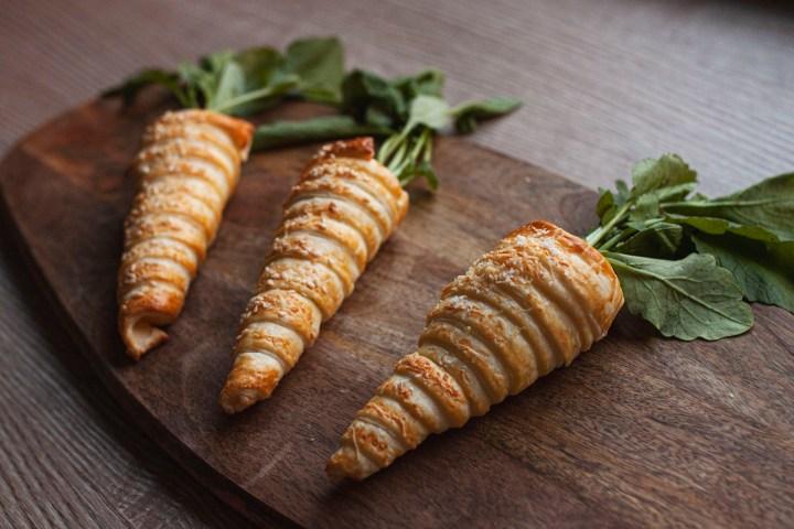 Blätterteig Karotten Frischkäsefüllung