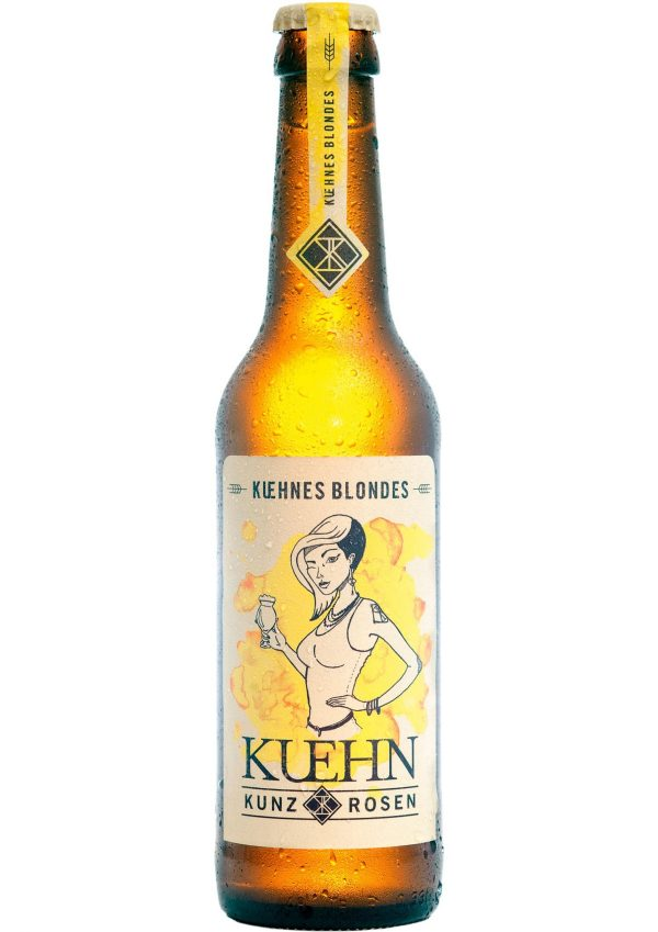 Kuehn Kunz Rosen Kuehnes Blondes 33 cl Bierflasche