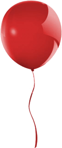 Red Balloon Floating