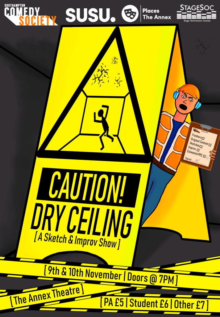 "Poster for ""Caution! Dry Ceiling"""