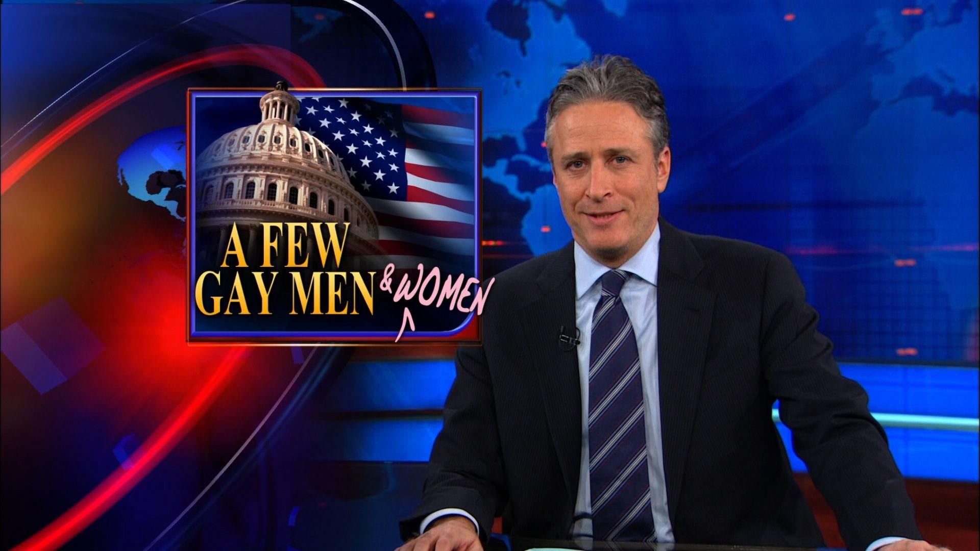 A Few Gay Men  Women  The Daily Show with Jon Stewart