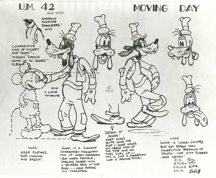 Classic Goofy model sheet