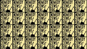 ComedyNews.Org logo repeated too many times