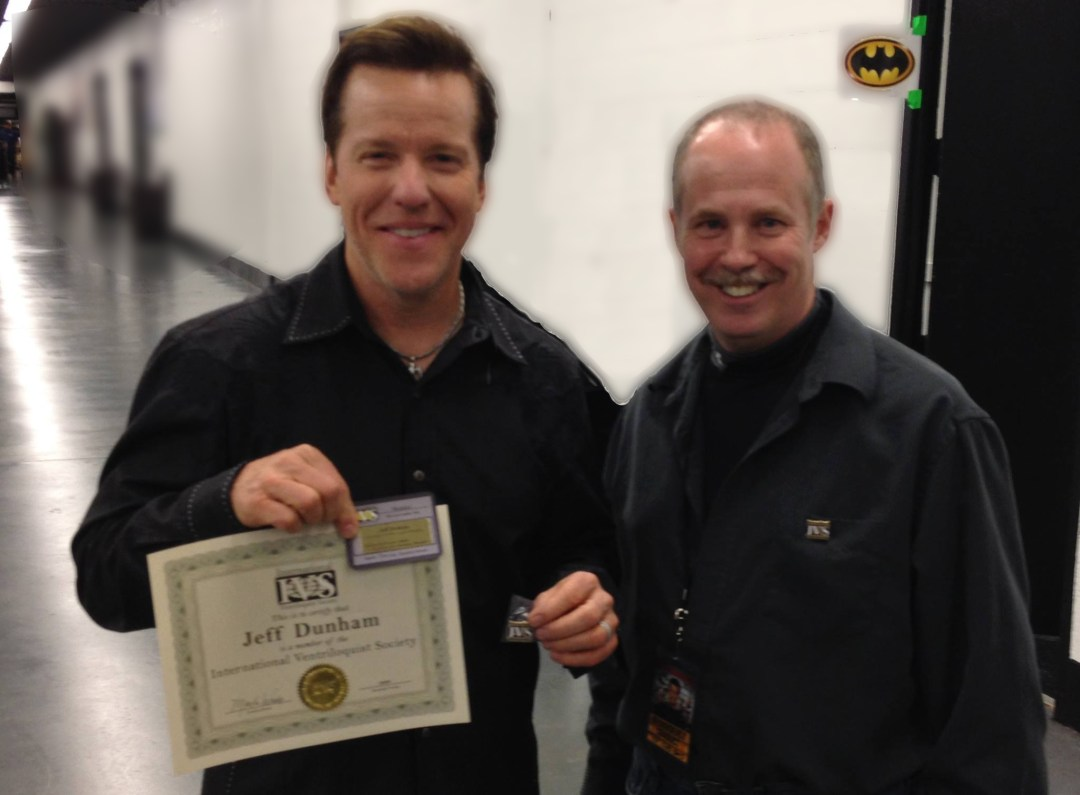 ventriloquist Jeff Dunham and ventriloquist Tom Crowl