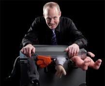 comedy ventriloquist Tom Crowl