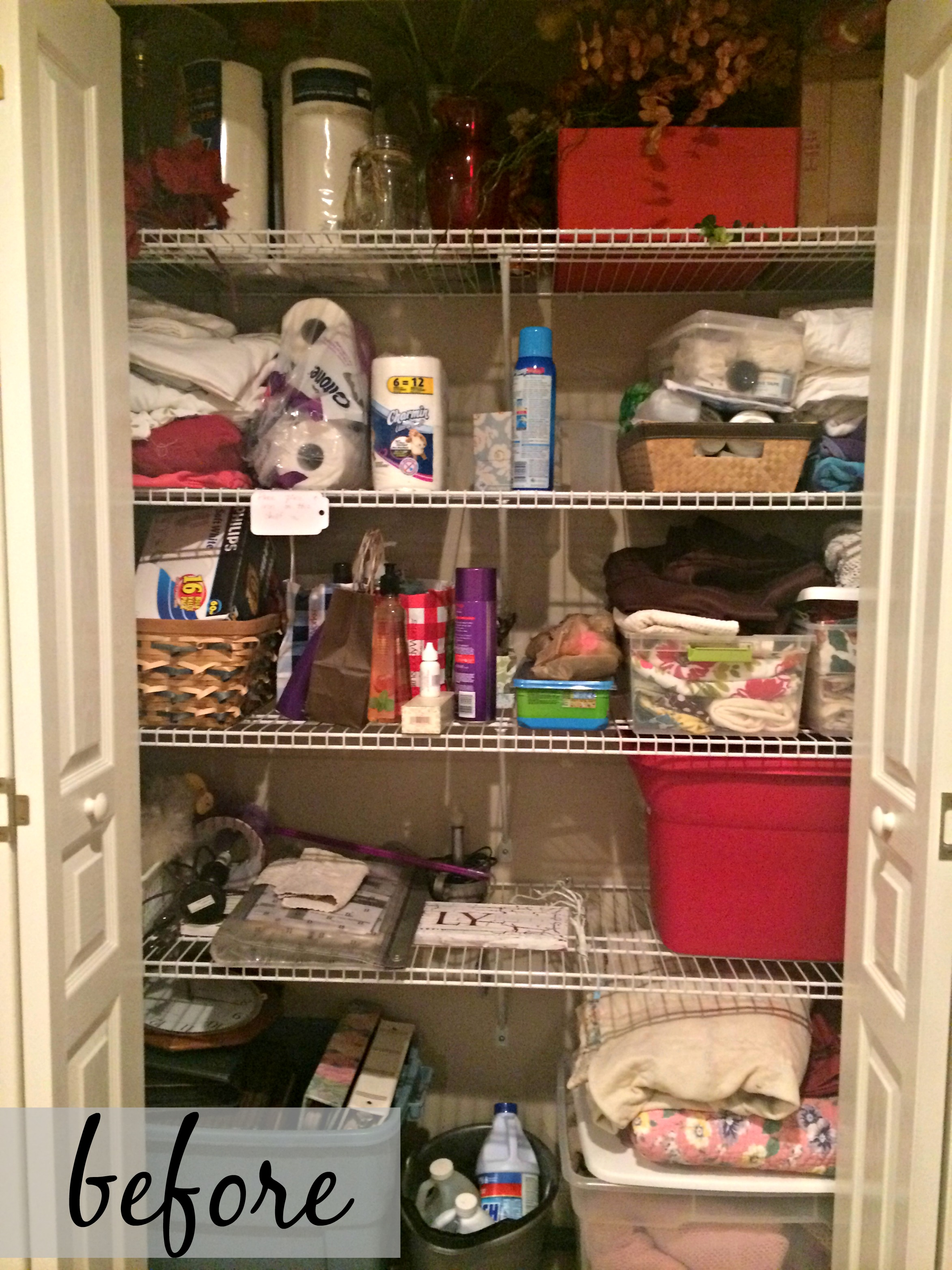 Organizing A Linen Closet On A Budget Come Home For Comfort