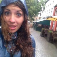 Me drenched from the rain