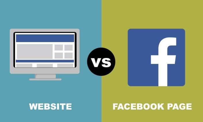 company facebook page vs website