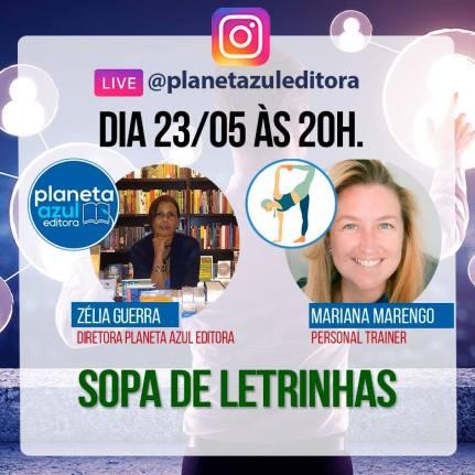 Sopa de Letrinhas Planeta Azul Editora no Comenta Livros