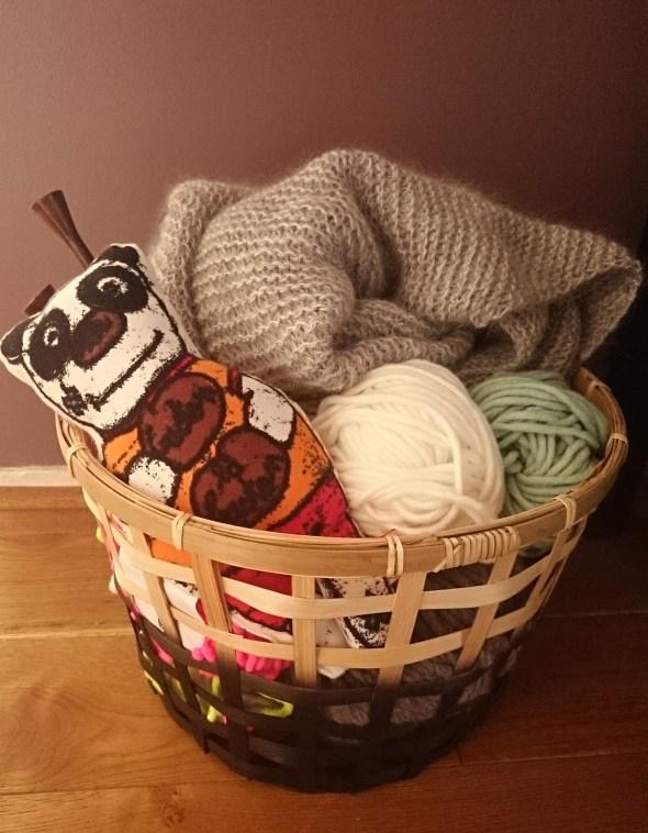tricot crochet en cours