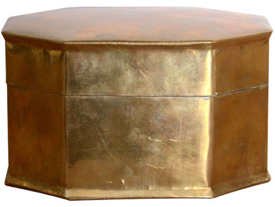 Burnished brass is not black, it is shiny brass. Here's a burnished brass box.