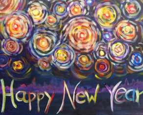 New year painting