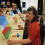 Sunny canvas brings out smiles in GV paint and wine class