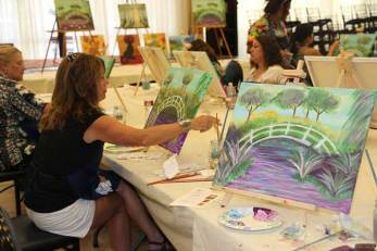Impressionist painting class
