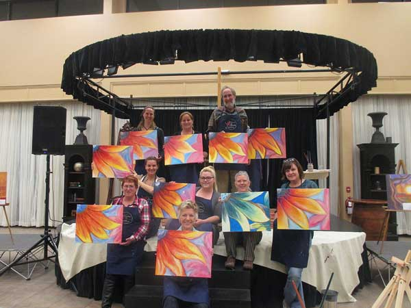 Joy in painting class shows in the final results