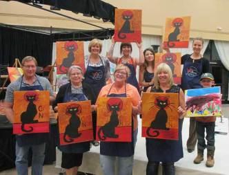 Chat Noir paint class