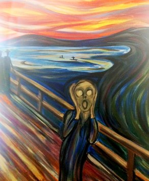 Come paint with us acrylic the scream