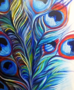 Come paint with us feathers acrylic class