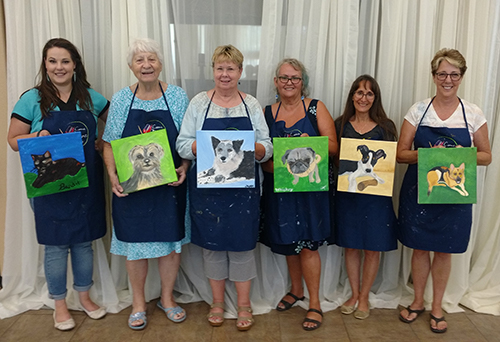 Paint your pet portraits proudly displayed