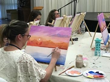 Winter dream painting acrylic class