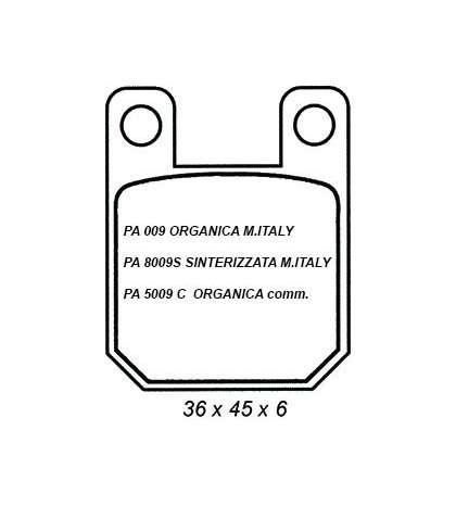 JUEGO DE PASTILLAS FRENO RIEJU RR / DERBI SENDA R: PA 5009