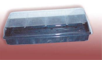 Charola plana de plástico sin divisiones F-1020 y Domo