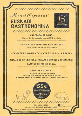 Menú especial Euskadi Gastronomika Villa Lucía
