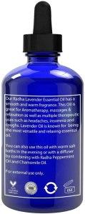 Radha Beauty - Aceite Esencial de Lavanda 120mL - Grado 100% natural y terapéutico, vapor destilado para aromaterapia, relajación, sueño, lavandería, alivio del estrés y la ansiedad, meditación, masajes, dolores de cabeza