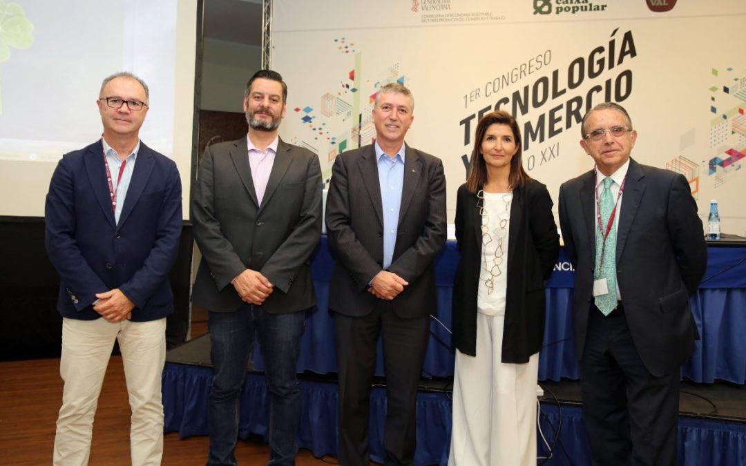 El concejal de Comercio participa en el primer Congreso de Tecnología y Comercio de CECOVAL