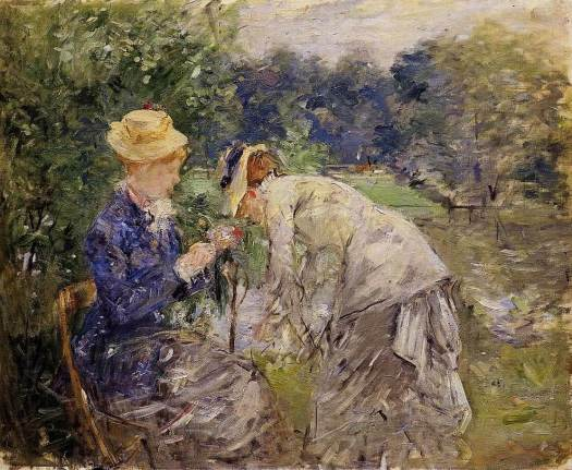 """In the Bois de Boulogne"" por Berthe Morisot"