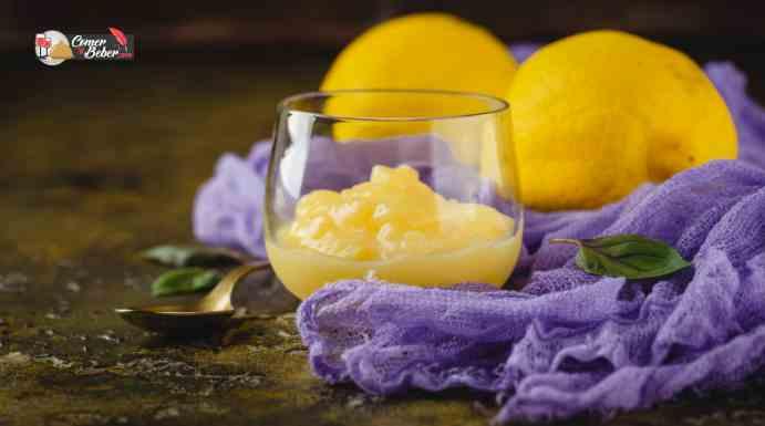 mus de limón con leche condensada
