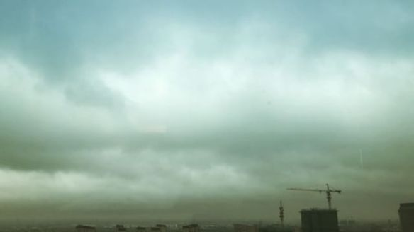 #typhoon #jongdari is currently hitting #shanghai #china Please be safe.