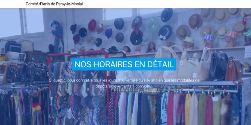 Le nouveau site Internet du Comité d'amis Emmaüs de Paray est en cours de création