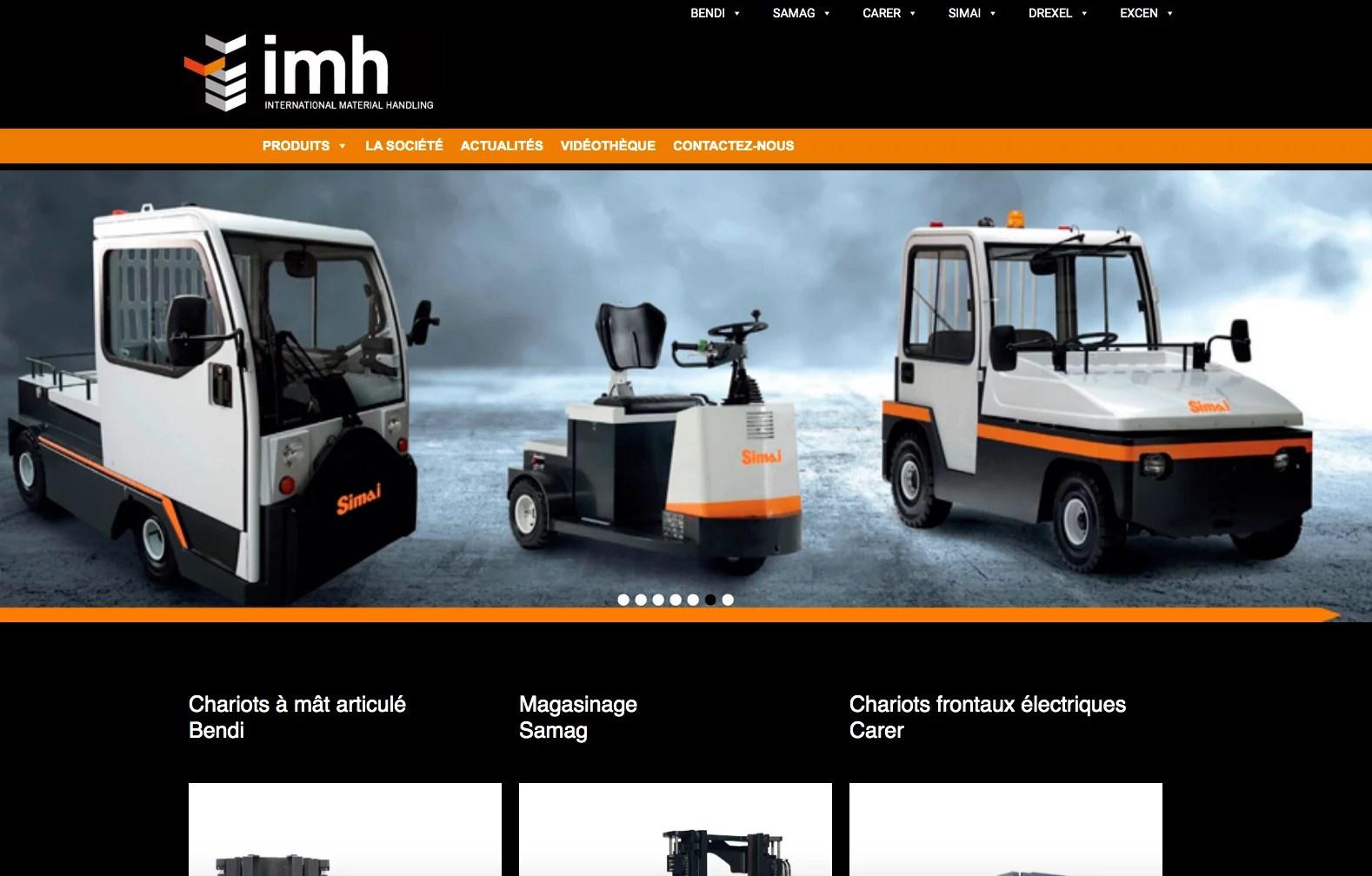 Aperçu du site Internet d'Imh