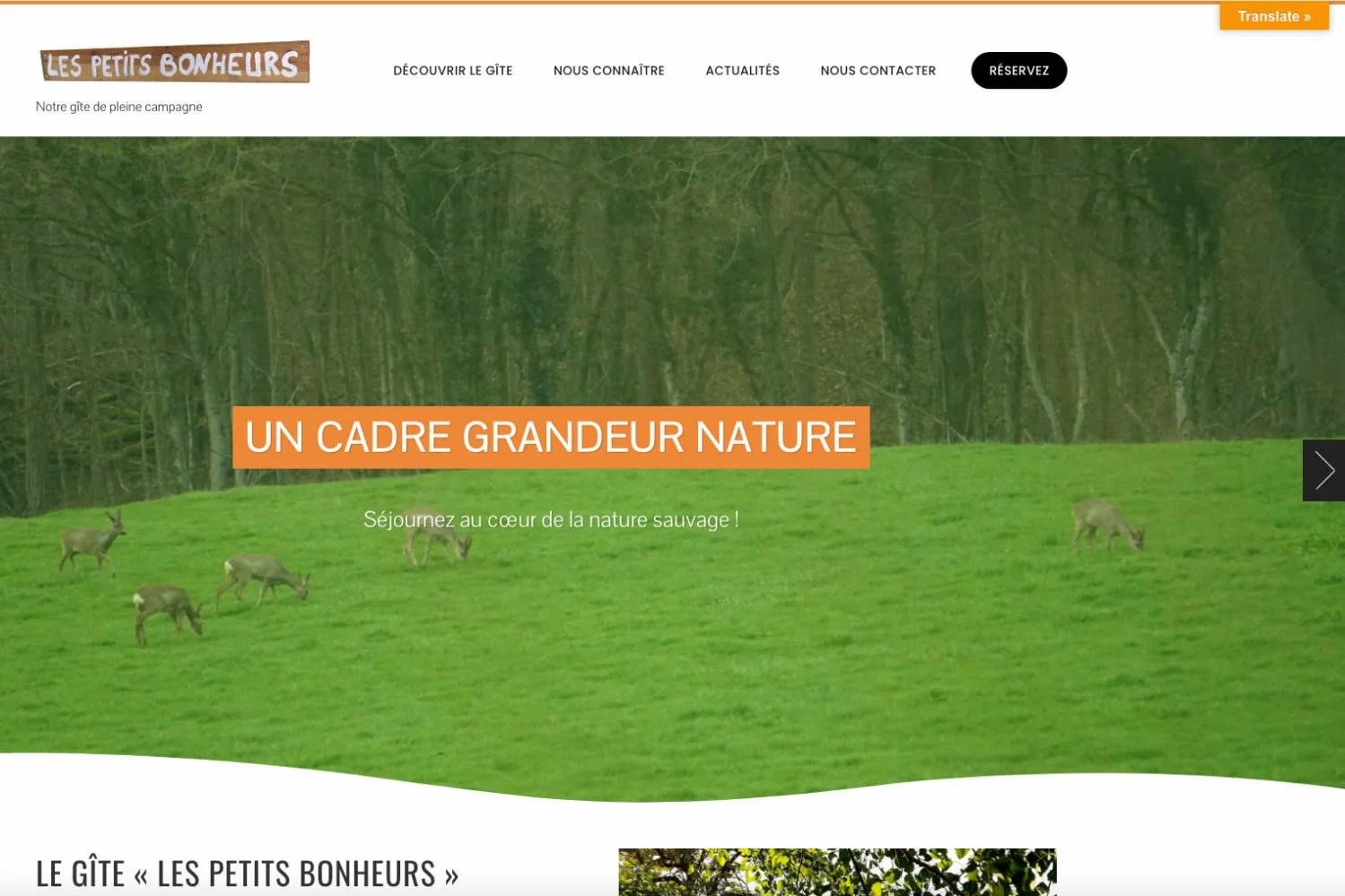 "Aperçu site ""Les Petits Bonheurs"""