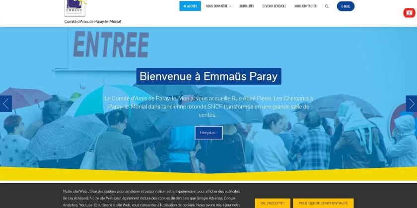Le Site d'Emmaüs Paray est en ligne !