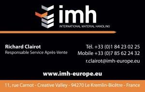 Carte de visite Imh - recto