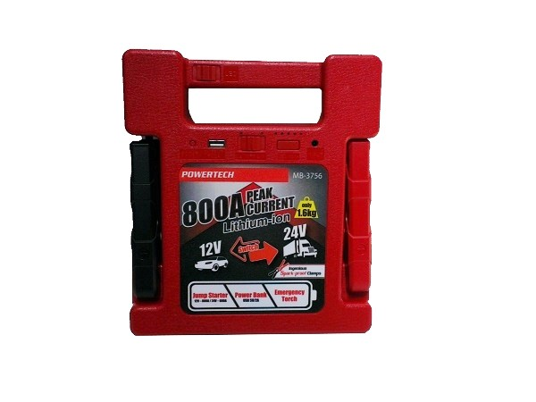 Powertech 12-24V 800A Jump Starter-Power Bank 1 B