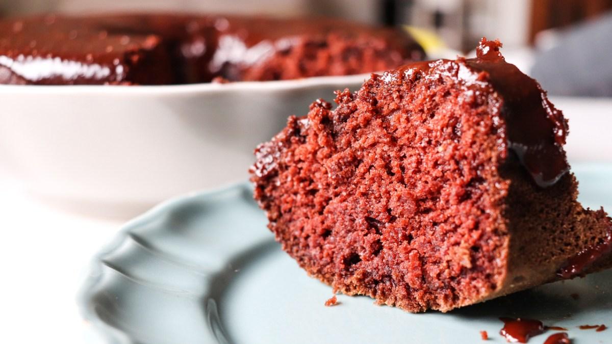 bolo vegan de chocolate rápido e fácil